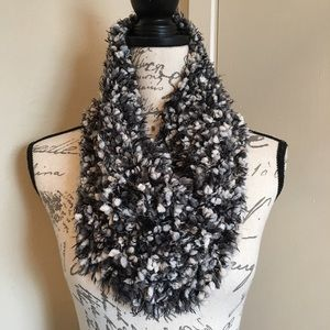 Betsey Johnson Cowl Neck Textured Infinity Scarf